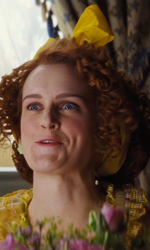 Sophie McShera with Hand Wide Long Hair Tie Headband in Cinderella