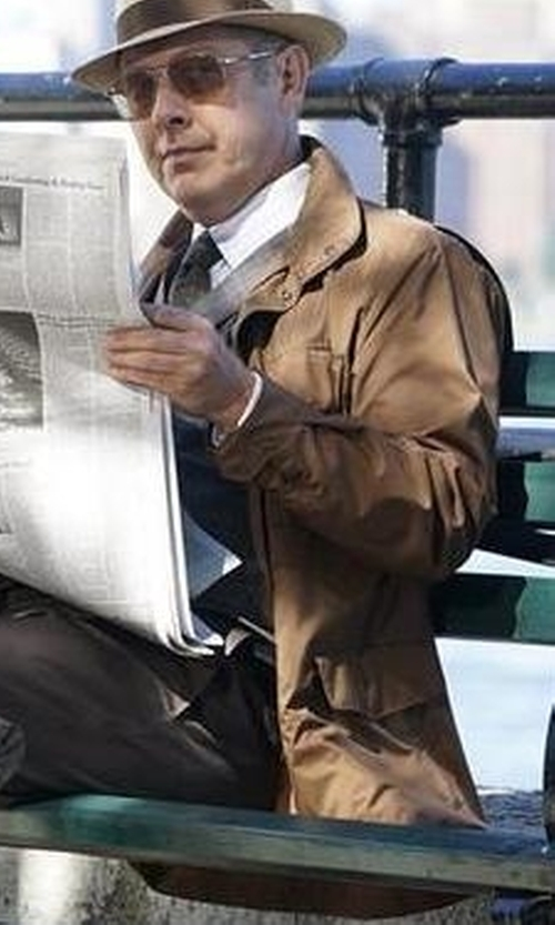 James Spader with Loro Piana Windmate Storm System Jacket in The Blacklist