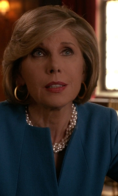 Christine Baranski with Nine West Taylor Stretch Wide-Lapel Blazer in The Good Wife