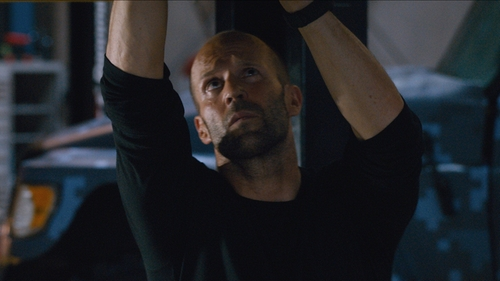 Jason Statham with James Perse Cotton-Jersey T-Shirt in The Fate of the Furious