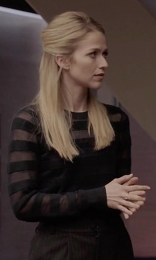 Johanna Braddy with BCBGMAXAZRIA Brynne Tee in Quantico