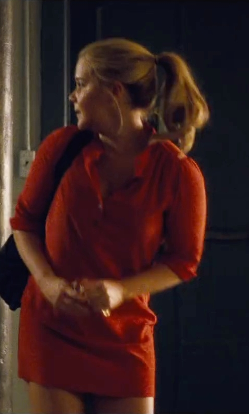 Amy Schumer with Ralph Lauren Mesh Polo Mini Dress in Trainwreck