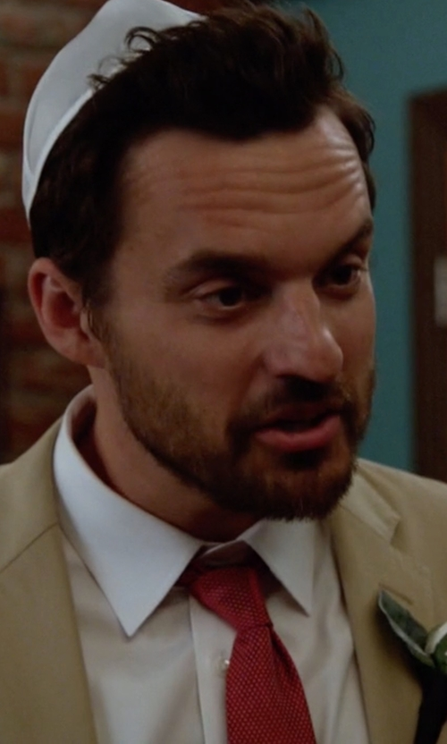 Jake Johnson with Salvatore Ferragamo Ovada Silk Tie in New Girl