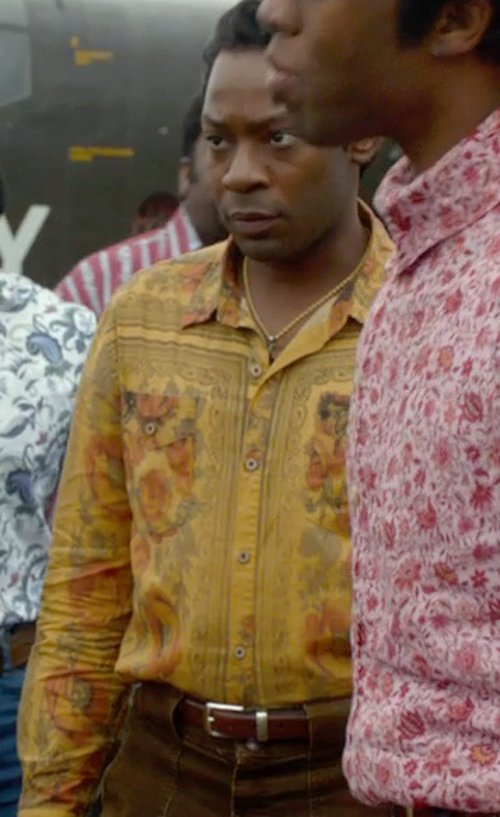 Nelsan Ellis with Linea Pelle Casual Belt with Brushed Buckle in Get On Up