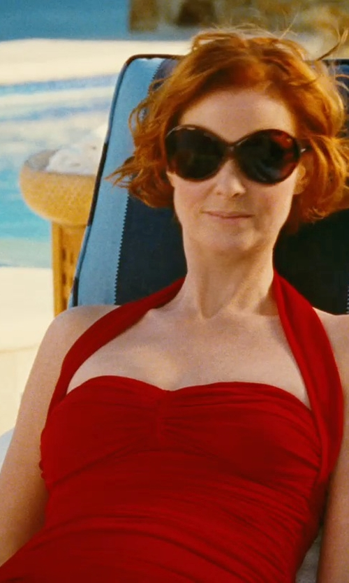 Cynthia Nixon with Norma Kamali Bill Mio Swimsuit in Sex and the City