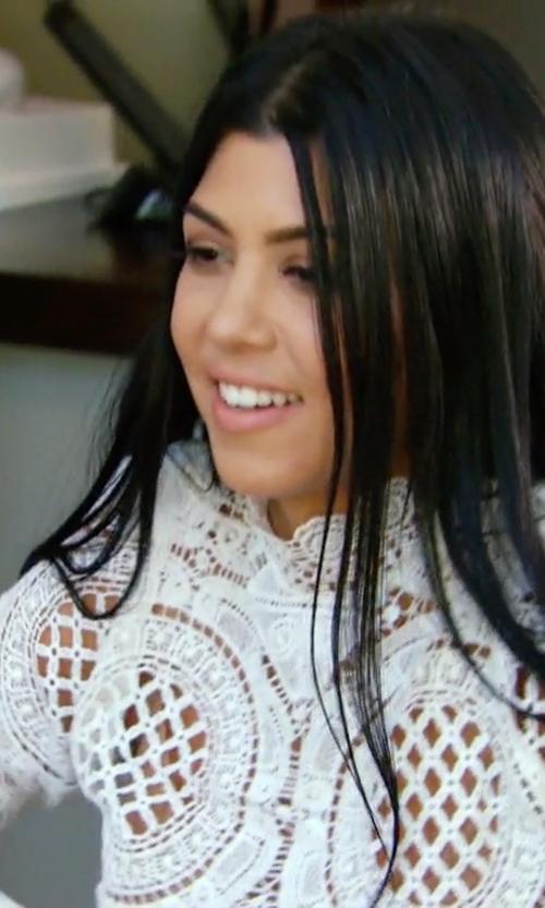 Kourtney Kardashian with Asilio Walls Crop Top in Keeping Up With The Kardashians