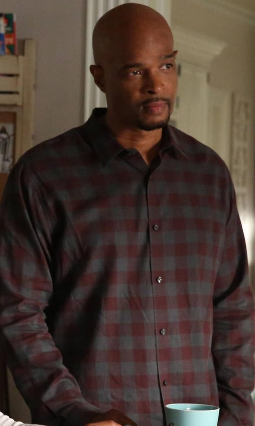 Damon Wayans with Michael Kors Enzo Slim-Fit Checkered Shirt in Lethal Weapon
