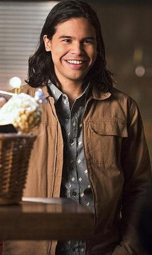 Carlos Valdes with Cova 'Krypto' Bedford Cord Jacket in The Flash