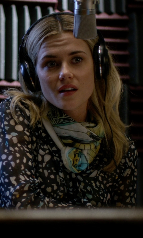 Rachael Taylor with Roberto Cavalli Silk Scarf in Jessica Jones
