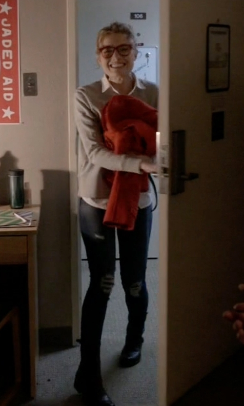 Skyler Samuels with Dr. Martens Aimilita Boots in Scream Queens