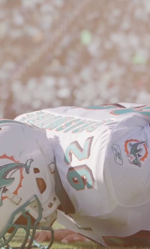 Dwayne Johnson with Nike Custom Miami Dolphins Jersey in Ballers