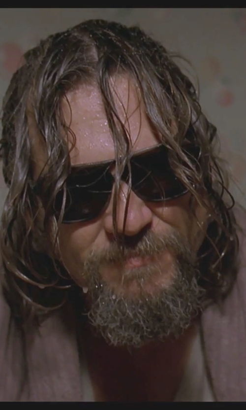 Jeff Bridges with Vuarnet 003 Aviator Sunglasses in The Big Lebowski