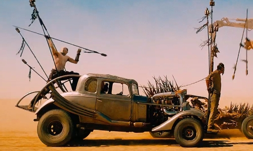 Tom Hardy with Ford Modified 1932 Five Window Coupe in Mad Max: Fury Road