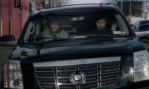Omari Hardwick with Cadillac Escalade SUV in Power
