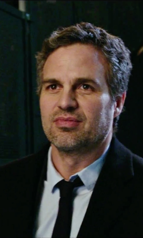 Mark Ruffalo with Brooks Brothers Textured Solid Tie in Now You See Me 2
