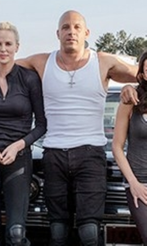 Vin Diesel with Calvin Klein Cotton Classic Rib Tank Top in The Fate of the Furious