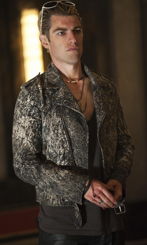 Max Greenfield with Icon Brand Jungle ID Necklace in American Horror Story