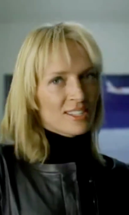 Uma Thurman with Vince Favorite Turtleneck Sweater in Kill Bill: Vol. 1