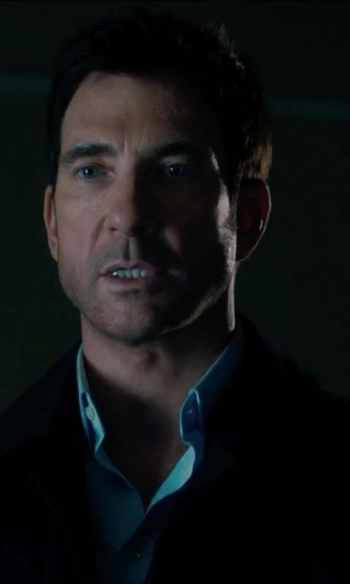 Dylan McDermott with Versace Collection City Fit Basic Suit in Survivor