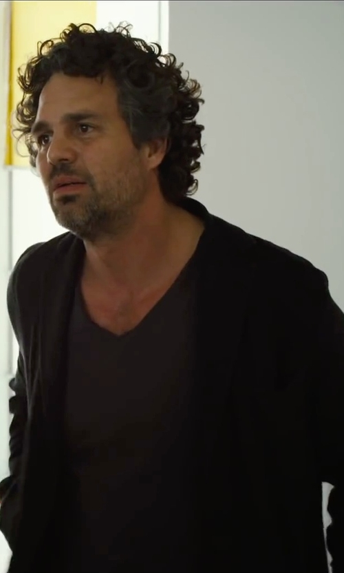 Mark Ruffalo with Versace Collection V-Neck T-Shirt in Begin Again