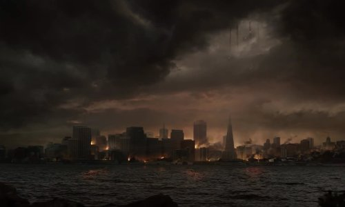 San Francisco California, USA in Godzilla