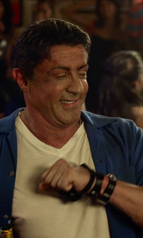 Sylvester Stallone with Maison Martin Margiela Button Down Shirt in The Expendables 3