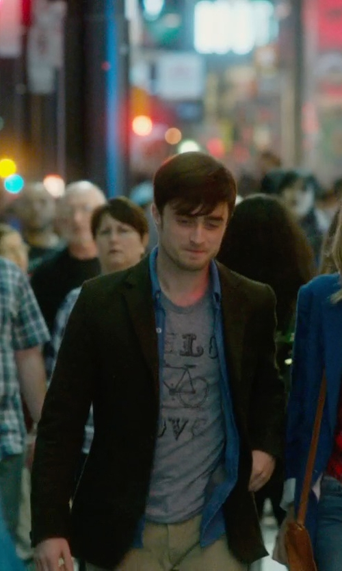Daniel Radcliffe with Ralph Lauren Blue Label Corduroy Blazer in What If