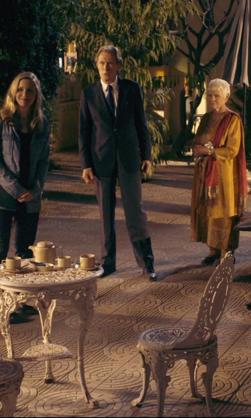 Bill Nighy with Les Hommes Two Piece Suit in The Second Best Exotic Marigold Hotel