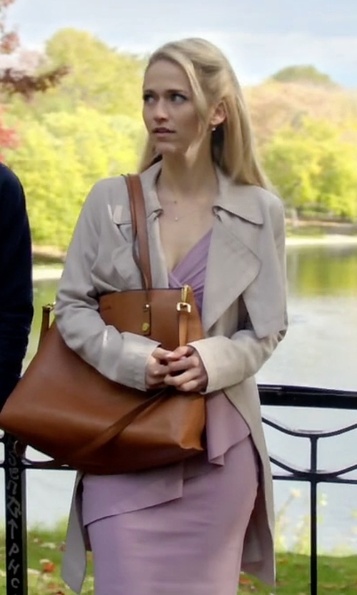 Johanna Braddy with Babaton Lawson Trench Coat in Quantico