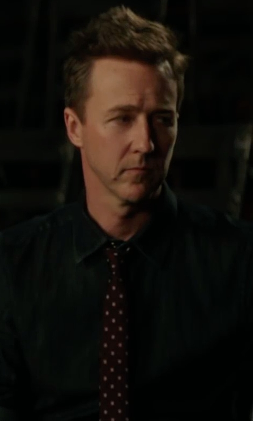 Edward Norton with Stefano Ricci Neat Paisley-Print Silk Tie in Collateral Beauty