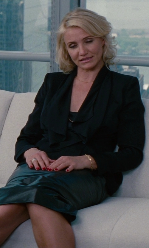 Cameron Diaz with Vionnet Asymmetric Jacket in The Other Woman