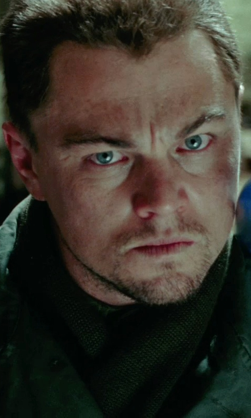 Leonardo DiCaprio with Guide Gear Turtleneck Hunter Green in Shutter Island