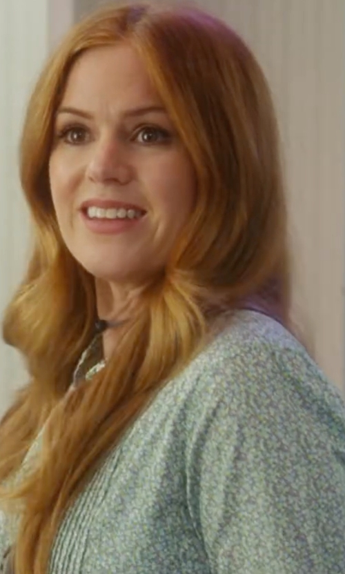 Isla Fisher with Rebecca Taylor Button-Front Floral-Print Semisheer Blouse in Keeping Up with the Joneses
