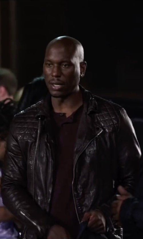 Tyrese Gibson with Dsquared2 Biker Jacket in Ride Along 2