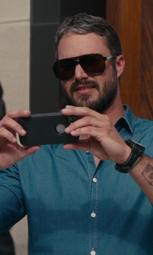 Taylor Kinney with Gitman Vintage Overdye Oxford Shirt in The Other Woman