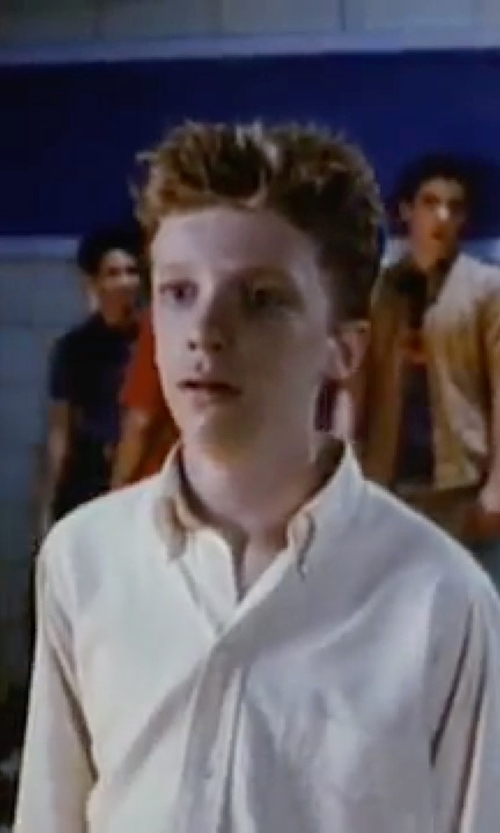 Anthony Michael Hall with Michael Kors Woven Cotton Dress Shirt in Sixteen Candles