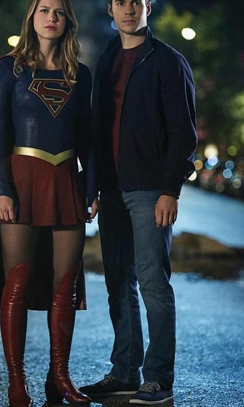Chris Wood with Swims Luca Sneakers in Supergirl