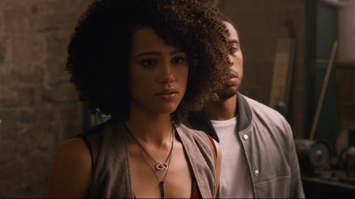 Nathalie Emmanuel with Mhart Horn & Charms Pendant Necklace in The Fate of the Furious