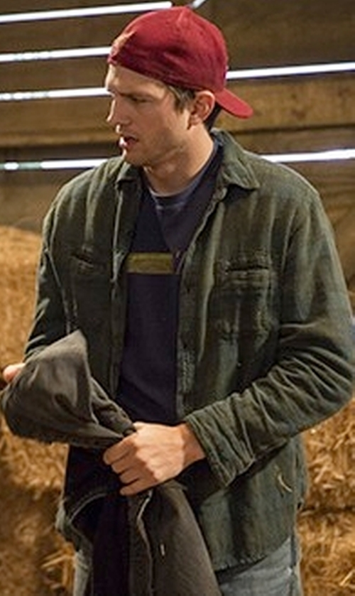 Ashton Kutcher with Stetson Plaid Shirt Jacket in The Ranch