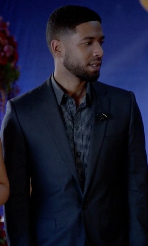 Jussie Smollett with Z Zegna Drop 8 Two-Piece Suit in Empire