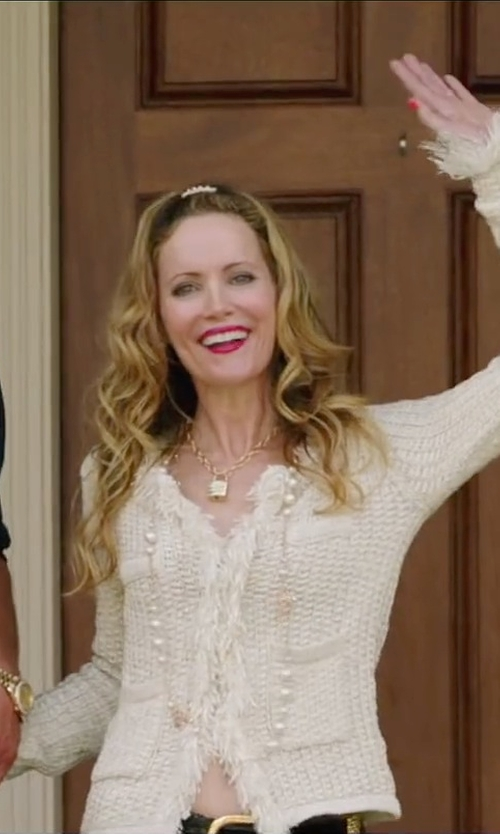 Leslie Mann with Astley Clarke Little Astley Locket Necklace in Vacation