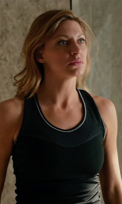 Jes Macallan with Nike Pro Hypercool Training Tank Top in Mistresses