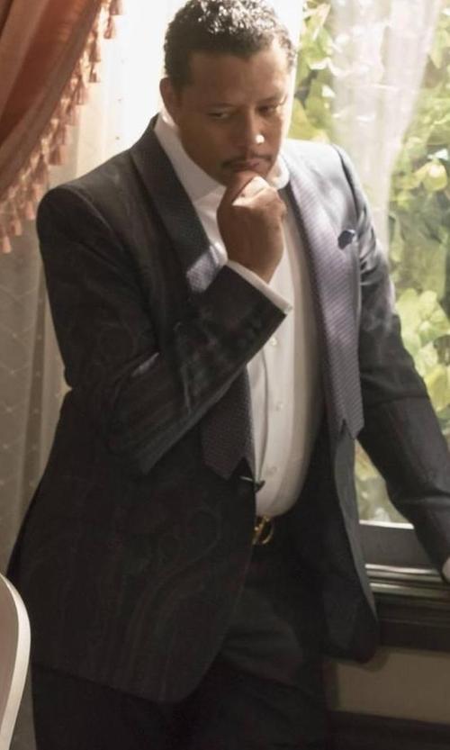 Terrence Howard  with Salvatore Ferragamo Double Gancini Calfskin Belt in Empire