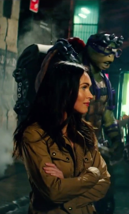 Megan Fox with Joie Cristii Cotton Jacket in Teenage Mutant Ninja Turtles: Out of the Shadows