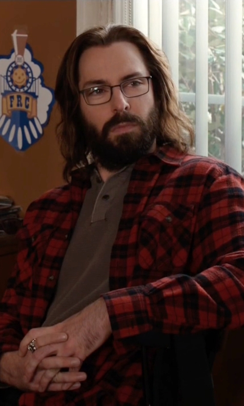 Martin Starr with Original Penguin Plaid Shirt in Silicon Valley