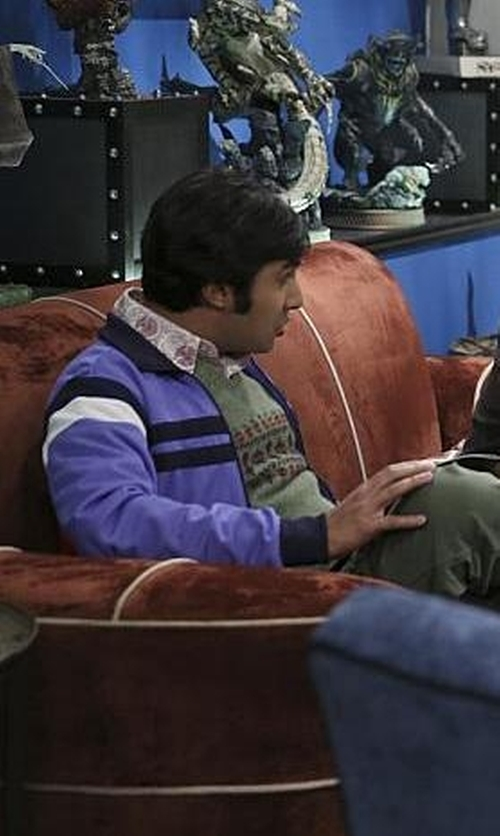 Kunal Nayyar with Brooks Brothers Fair Isle Sweater Vest in The Big Bang Theory