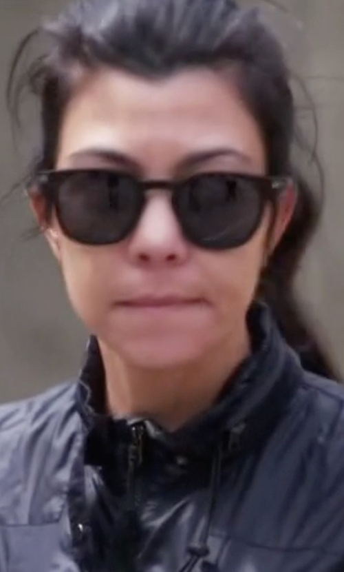 Kourtney Kardashian with Saint Laurent Soft Round Acetate Sunglasses in Keeping Up With The Kardashians