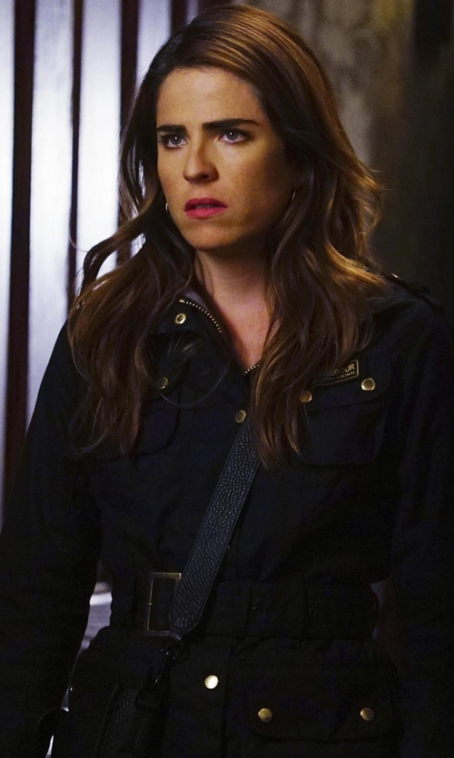 Karla Souza with Barbour International Polarquilt Jacket in How To Get Away With Murder