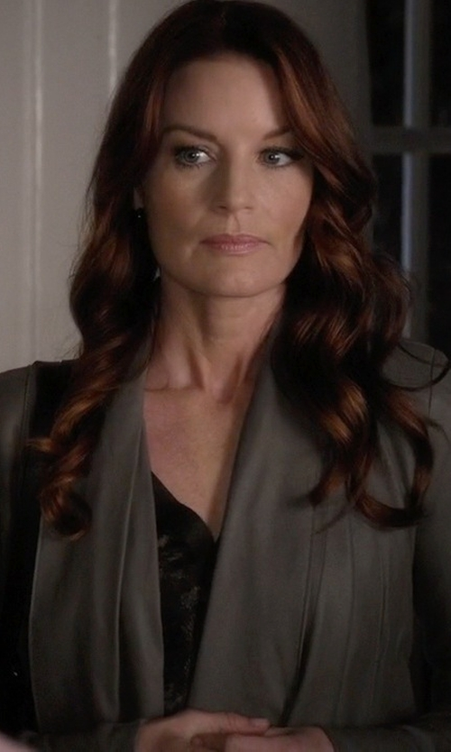 Laura Leighton with Elie Tahari Judith Sleeveless Blouse in Pretty Little Liars