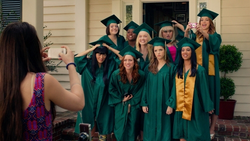 Alexis Knapp with Josten's Graduation Cap and Gown in Pitch Perfect 2